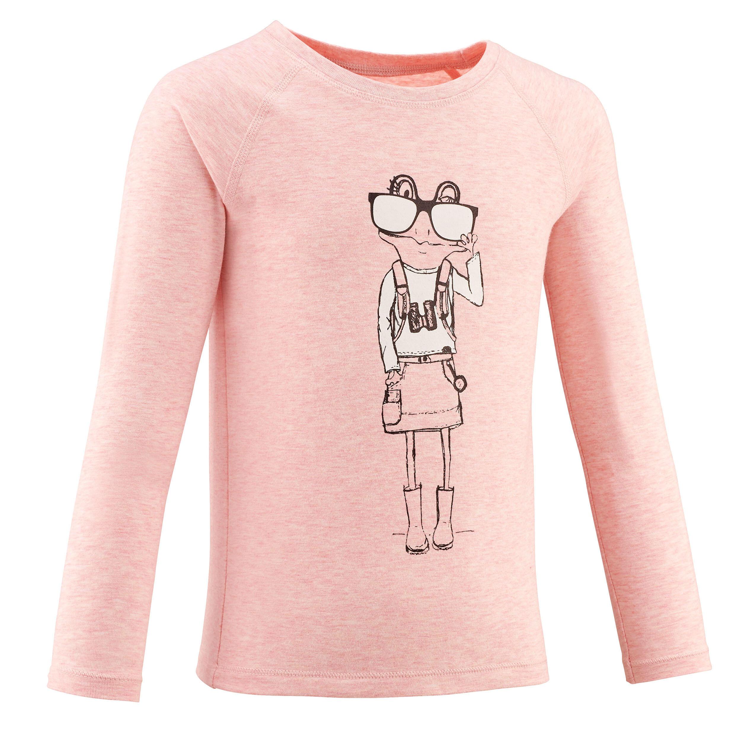 Bluză Drumeție MH150 Roz Fete