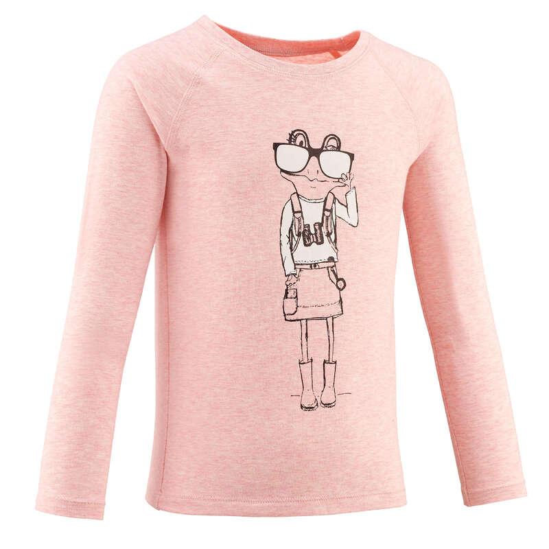 TS-SH-GIAC-PANT BAMBINA 2-6A Sport di Montagna - T-shirt bambina MH150 rosa QUECHUA - Trekking bambino