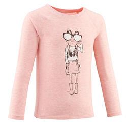 T-shirt montagna bambina 2-6 anni MH150 ANTI-UV rosa