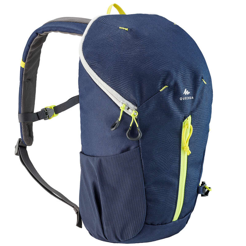 CHILD HIKING BACKPACKS Hiking - JR RUCKSACK MH100 10L BLU YEL QUECHUA - Hiking Backpacks and Bags