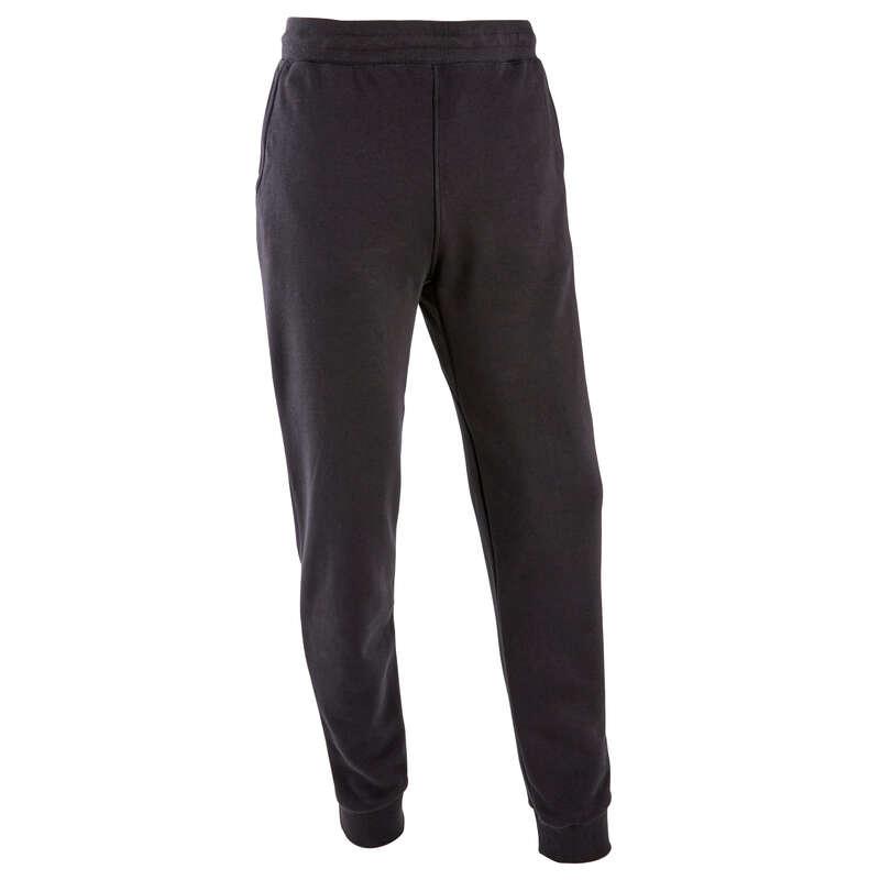 PANTALONI E GIACCHE UOMO Ginnastica, Pilates - Pantaloni slim uomo gym neri ADIDAS - Abbigliamento uomo