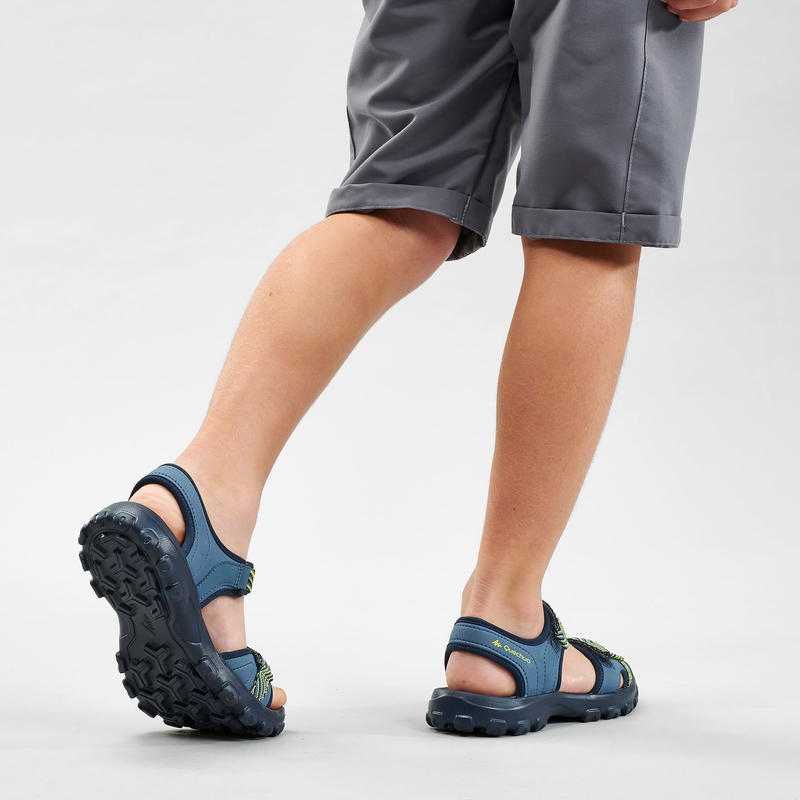 Hiking sandals MH100 TW blue and yellow - children - jr size 13 TO 4