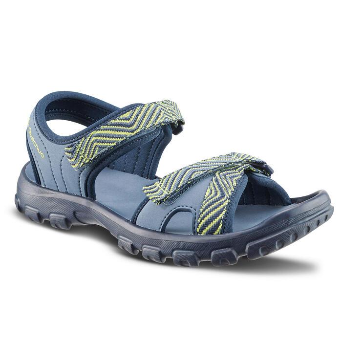 Sandales de randonnée MH100 TW bleues et jaunes - enfant - 32 AU 37
