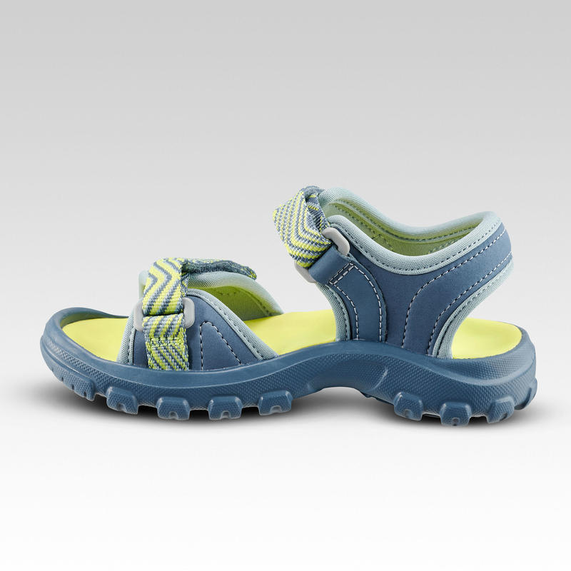 Kid's Mountain Hiking Sandals MH100 blue/yellow - Jr size 7 TO 12.5