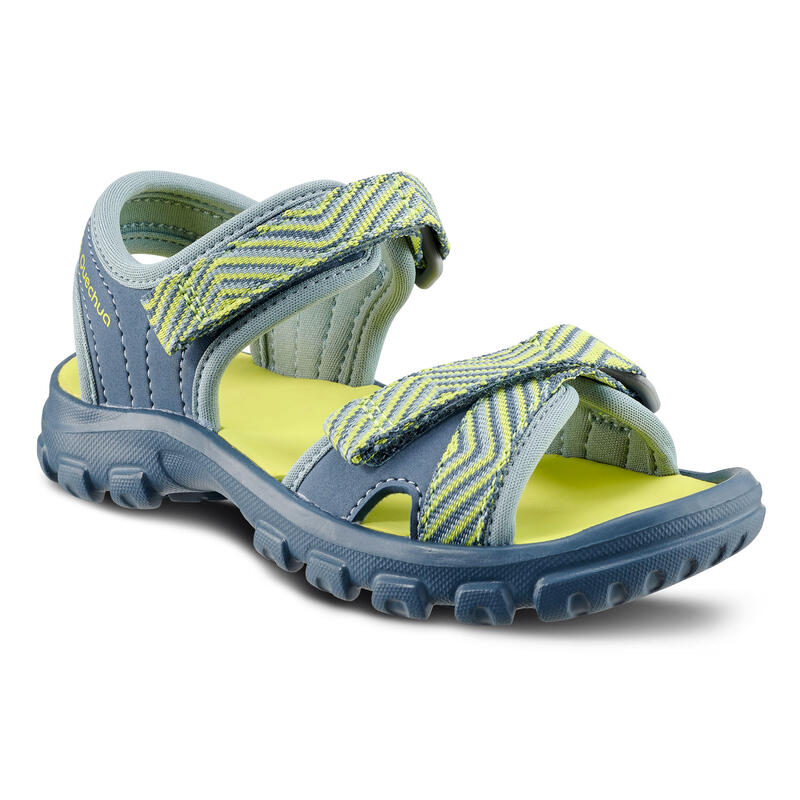 Hiking sandals MH100 KID blue and yellow - children - jr size 7 TO 12.5