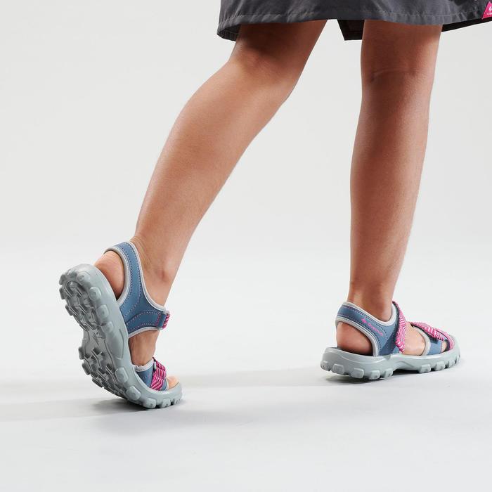 男童款健行涼鞋 MH100-藍色/粉紅色