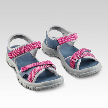 Sandales de randonnée MH100 TW bleues et rose - enfant - 32 AU 37