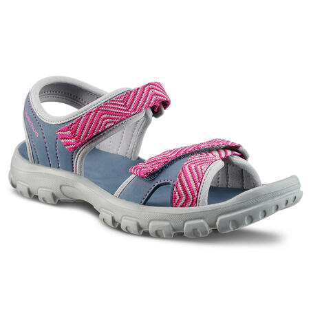 Children's hiking sandals MH100 TW blue and pink - JR size 12.5 TO 4