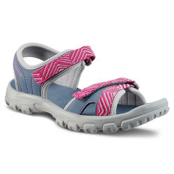 HIKING SANDALS - MH100 - BLUE/FUSHIA - KIDS - SIZE 32 TO 37