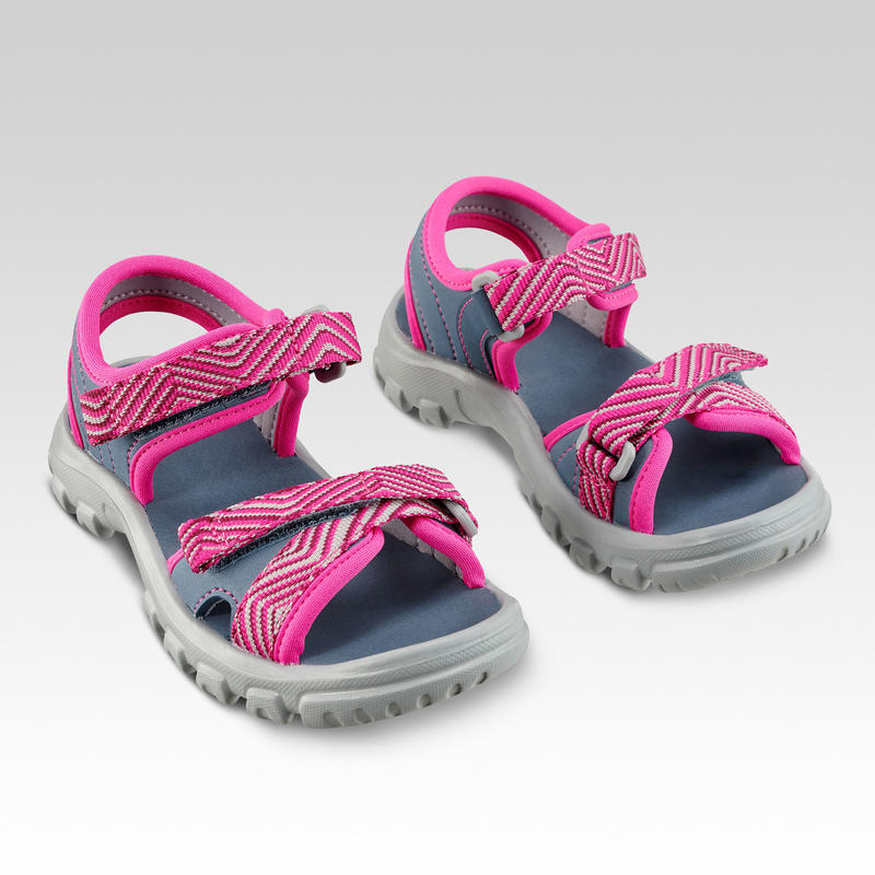 Sandales de randonnée MH100 KID bleues rose - enfant - 24 AU 31