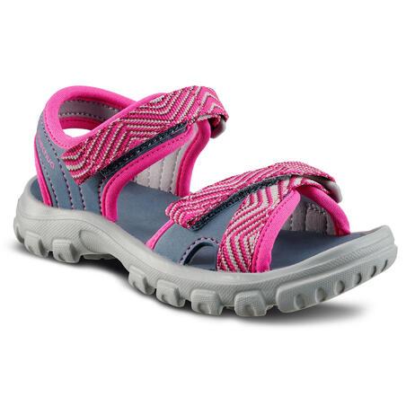 Hiking sandals MH100 KID blue pink - children - Jr size 7 TO 12.5