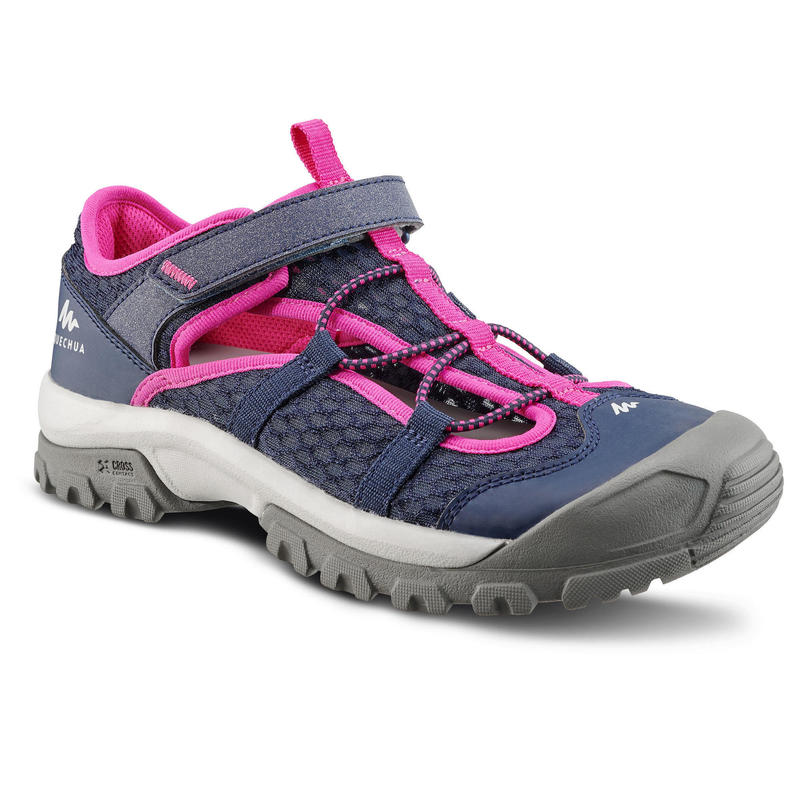 Children's hiking sandals MH150 TW blue pink - JR size 10 TO 6