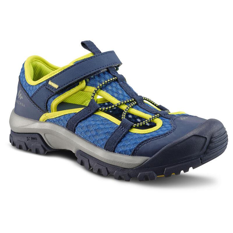 Sandalias Deportivas de Trekking y Senderismo Quechua MH150 Niños Azul