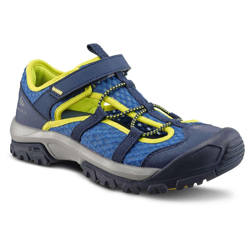 SANDALER FÖR VANDRING I VARM VÄDERLEK, B Typ av sko - SANDAL MH150 JR blå QUECHUA - Sandaler