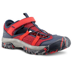 HIKING SANDALS - MH150 - RED/BLUE - KIDS