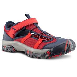 Sandalen Wandern MH150 Kinder Jungen Gr. 28–39 rot