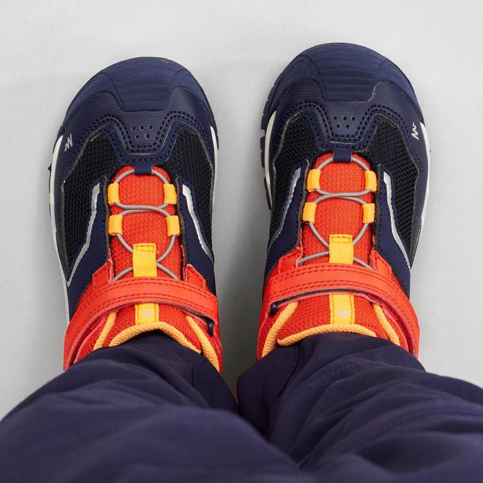 Chaussures basses de randonnée montagne enfant Crossrock Rouges 28-34