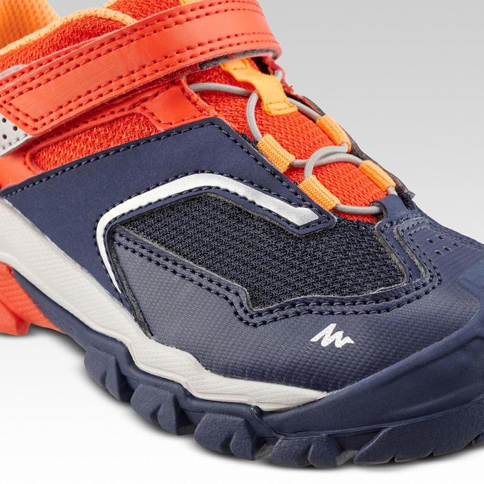 Chaussures de randonnée montagne basses avec scratch garçon Crossrock KID rouge