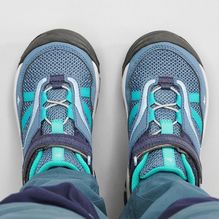 Lage bergwandelschoenen met klittenband voor meisjes Crossrock blauw
