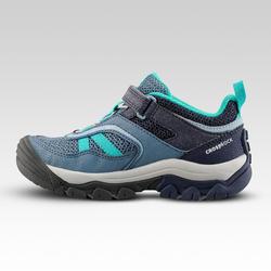 Chaussures de randonnée montagne basses avec scratch fille Crossrock bleues