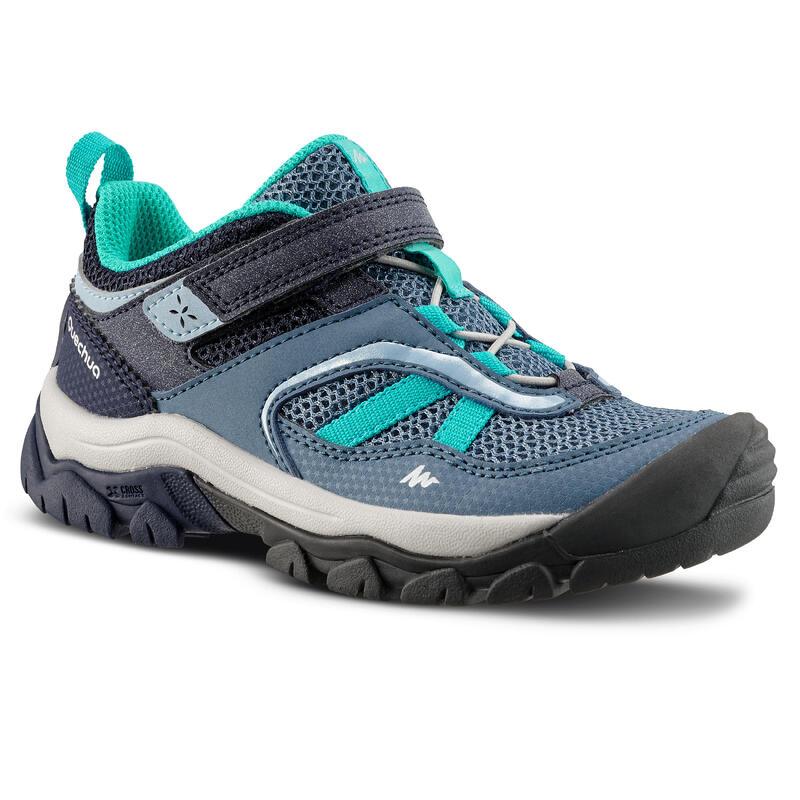 Bergwandelschoenen met klittenband voor meisjes Crossrock blauw 24-34