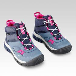 Chaussures imperméables de randonnée -CROSSROCK MID bleues- enfant 28 AU 34