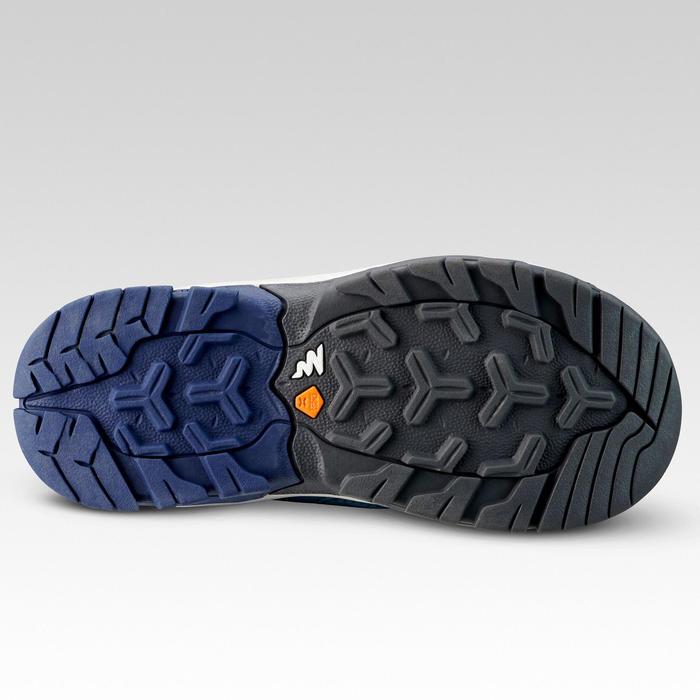 Waterdichte halfhoge wandelschoenen voor kinderen Crossrock blauw 28 tot 34