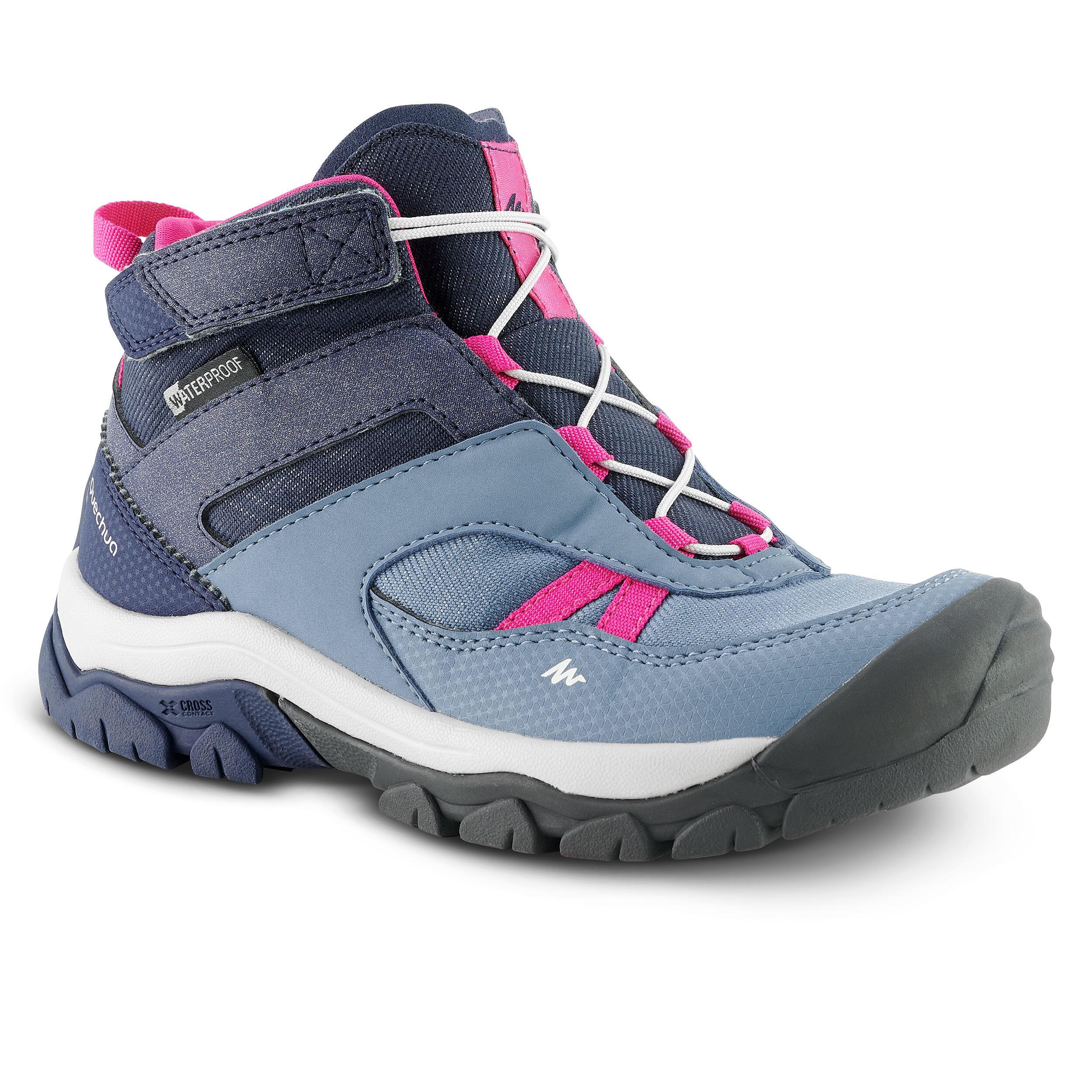 Meindl Kinder Mädchen Wanderschuhe Outdoorschuhe Sportschuhe Schuhe grau lila