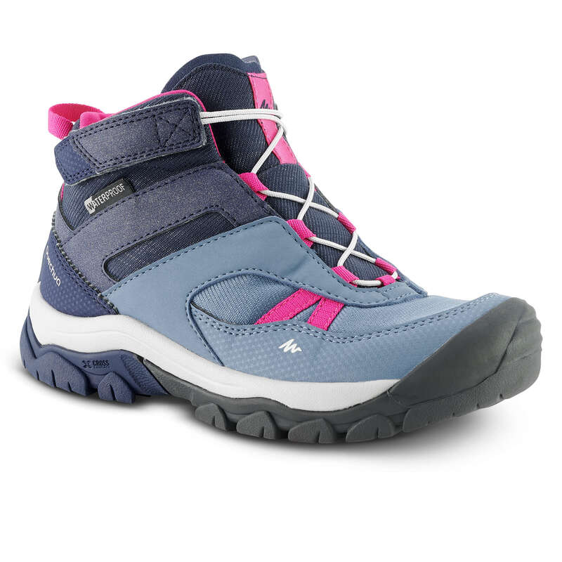 SHOES GIRL Hiking - SH CROSSROCK MID WATERPROOF QUECHUA - Outdoor Shoes
