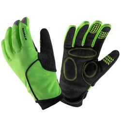Fietshandschoenen voor kinderen 500 winter fluogeel