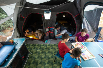 Slim kamperen met kinderen