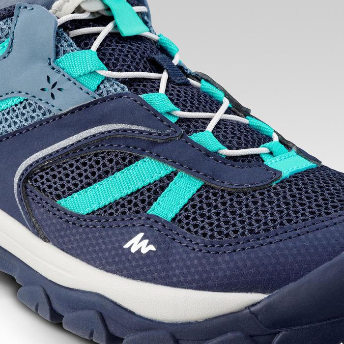 Chaussures de randonnée montagne basses lacet fille Crossrock bleue 35-38