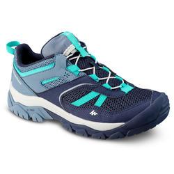 Lage bergwandelschoenen met veters voor meisjes Crossrock maat 35-38 blauw