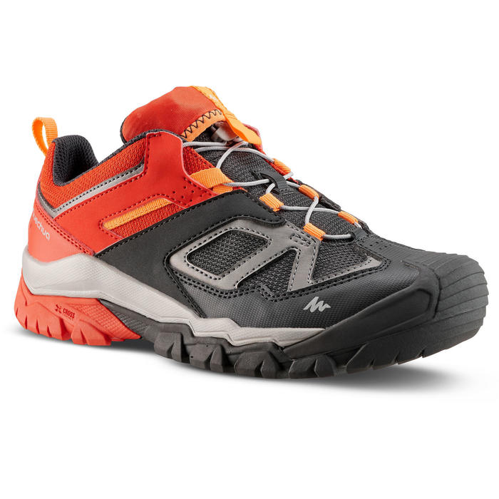 Boy's Low-top Lace-up Mountain Walking shoes Crossrock - Red size 2.5-5