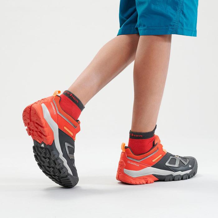 Lage schoenen voor bergwandelen jongens Crossrock veters rood 35-38
