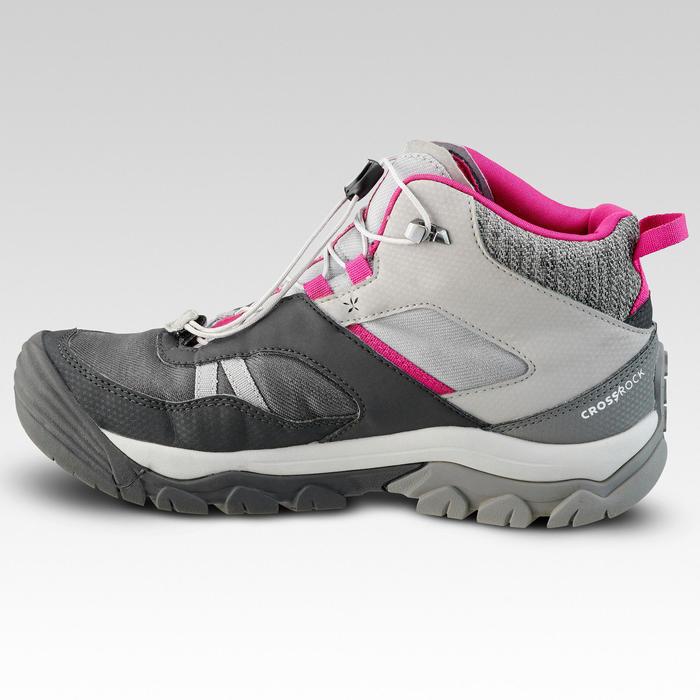 Waterdichte halfhoge wandelschoenen voor kinderen Crossrock grijs 35-38 veters
