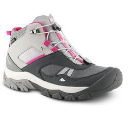Botas de caminhada criança CROSSROCK MID atacadores impermeável 35-38 Cinzento