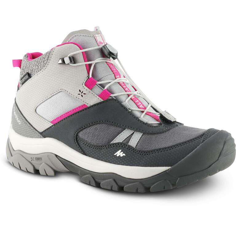 SHOES GIRL Hiking - SH CROSSROCK MID WATERPROOF QUECHUA - Outdoor Shoes