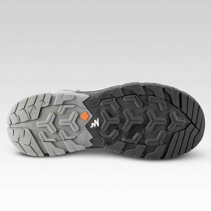 Waterdichte halfhoge wandelschoenen voor kinderen Crossrock veters 35-38 grijs