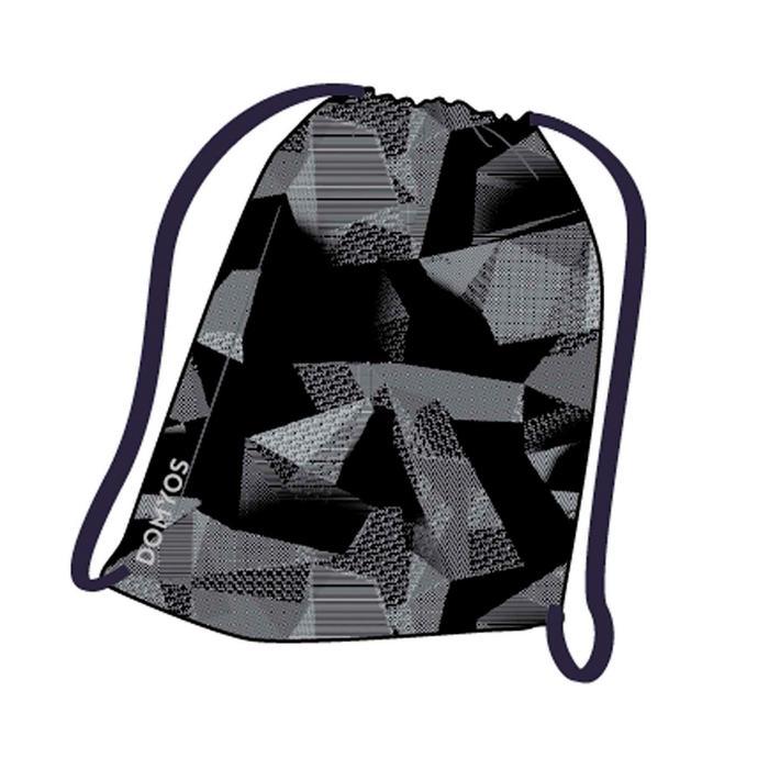 折疊式健身鞋袋 - 黑色印花