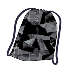 Fold-down Fitness Shoe Bag - Black Print