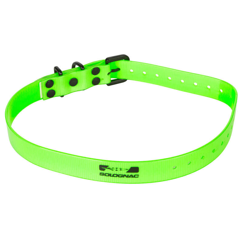 DOG ACCESSORIES - DOG COLLAR 300 HIGH VISIBILITY GREEN SOLOGNAC