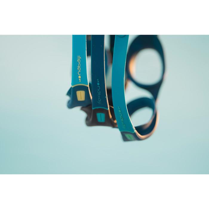 Zwembril 100 Soft maat L blauw/groen met heldere glazen