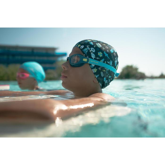 Zwembril 100 Soft maat S blauw/geel heldere glazen