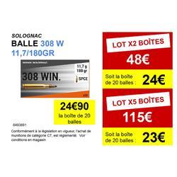 Bala Caza Solognac 308 W. 11,7 g/180 gr. X20