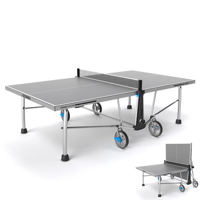 Tafeltennistafel / pingpongtafel outdoor PPT 900 grijs