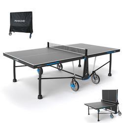 Tischtennisplatte PPT 930 Outdoor schwarz mit Hülle
