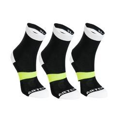 3雙入兒童襪RS 160-黑色/白色