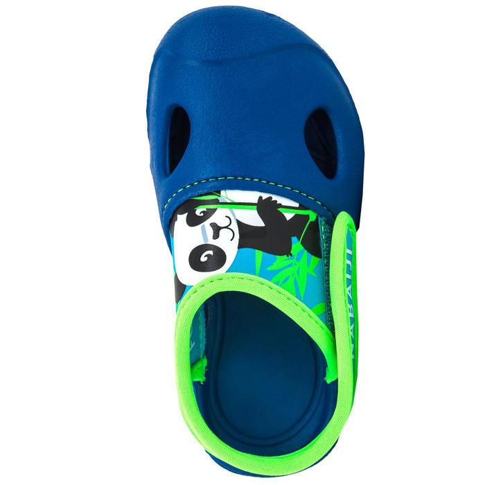 男童款泳池拖鞋100 熊貓藍色