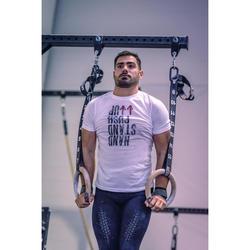 Fitness shirt voor crosstraining heren, wit